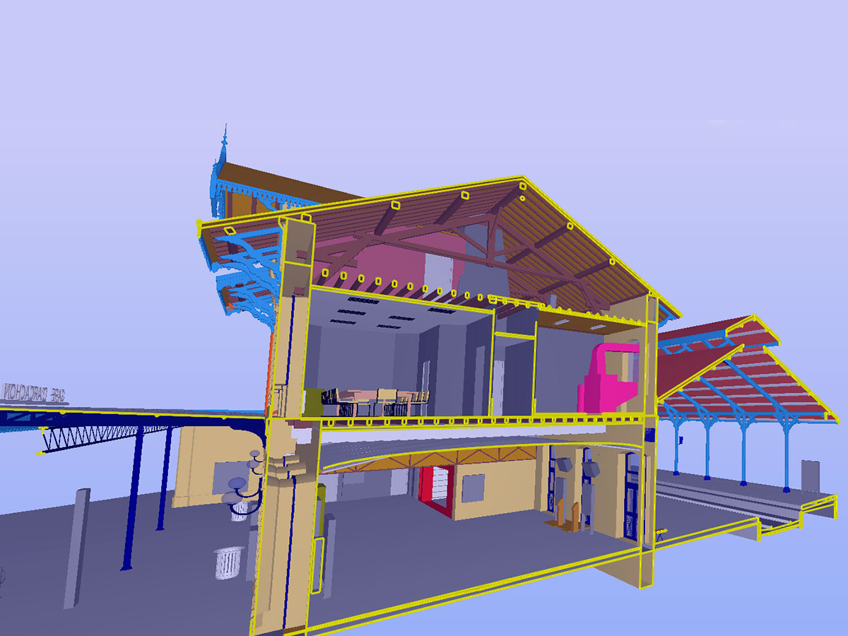 escaner 3D - modelado BIM - gare Arcachon   BIM ESCANER