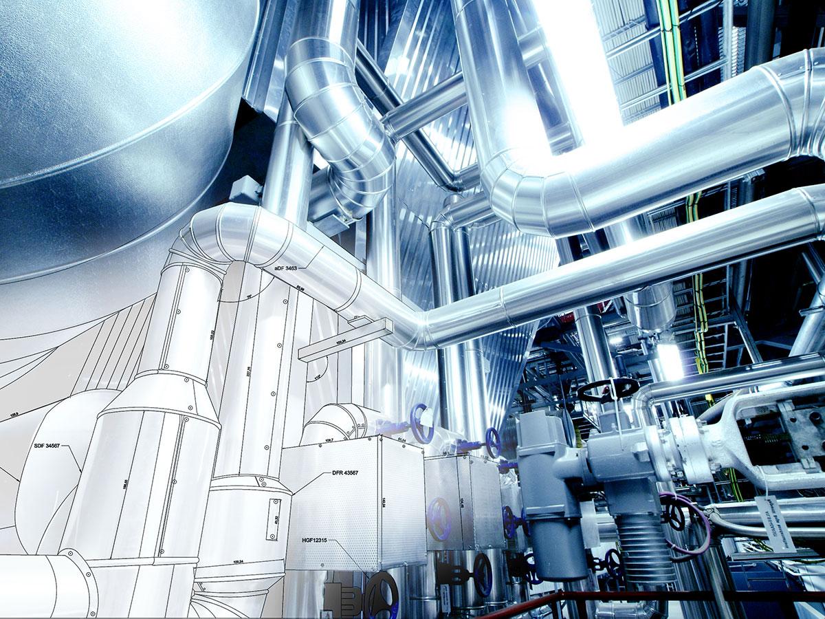 escáner 3D - nube de puntos - sector industrial | BIM ESCANER
