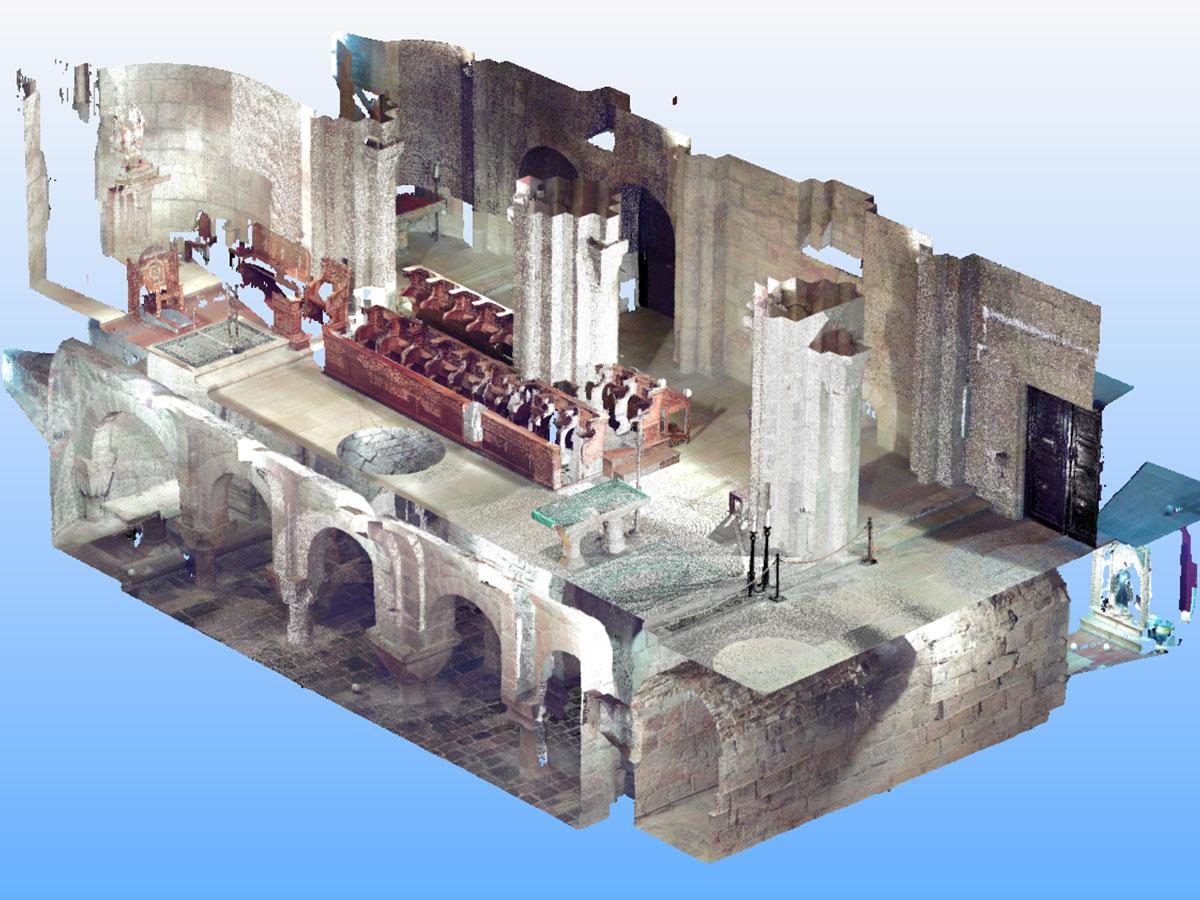escaneado 3D - nube de puntos - patrimonio histórico | BIM ESCANER