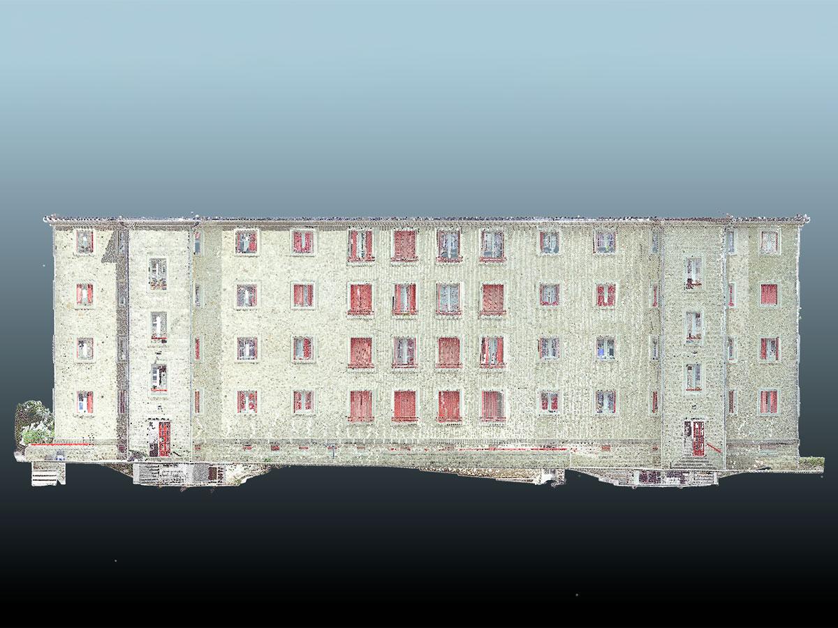 bim - escáner 3D - levantamiento nube de puntos - rehabilitación fachadas | BIM ESCANER