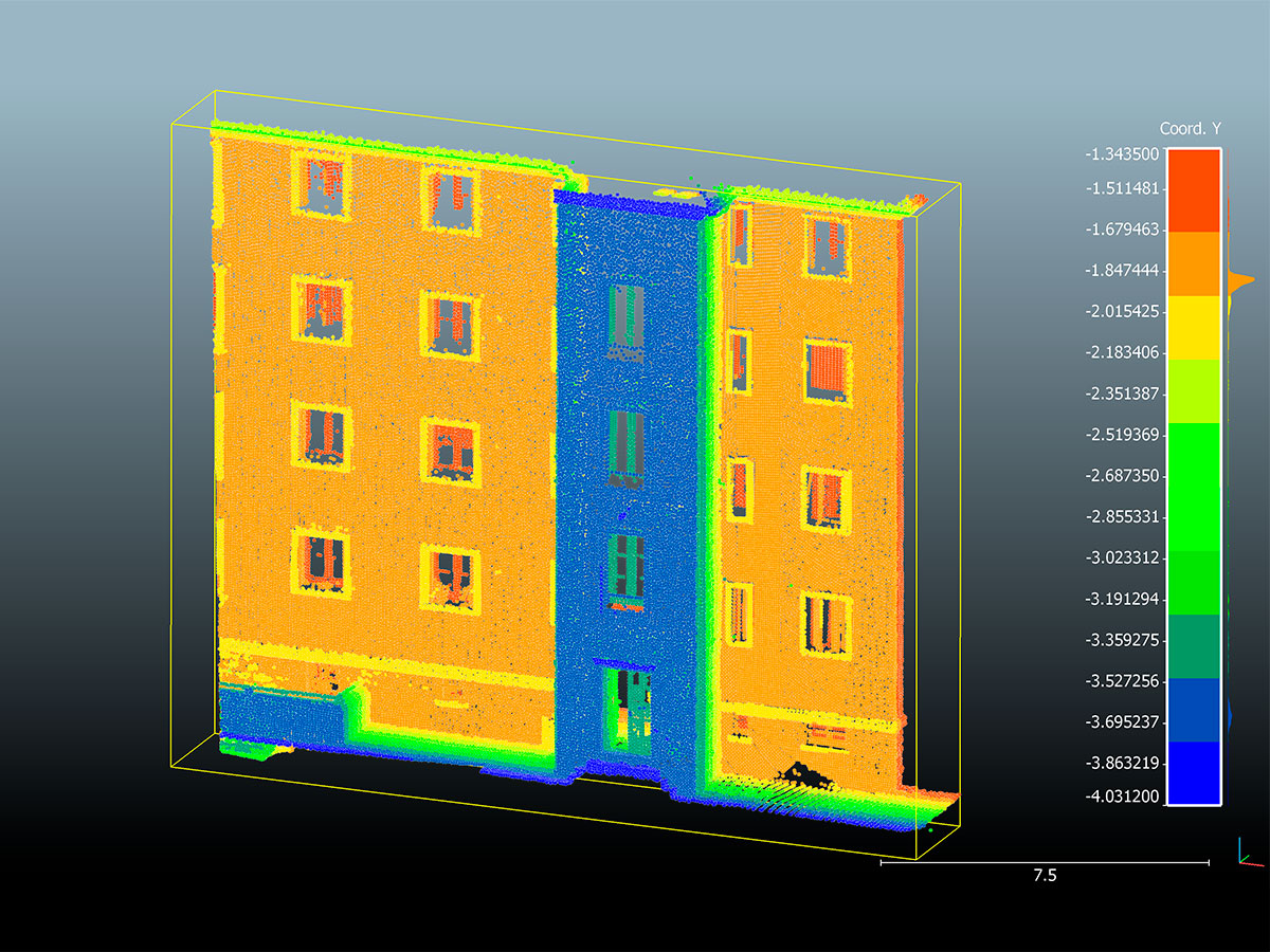 láser 3D - nube de puntos - fachadas | BIM ESCANER
