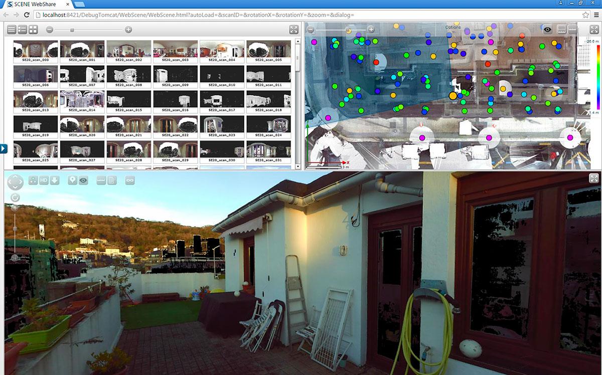 escaneado 3D - nube de puntos - visita virtual | BIM ESCANER