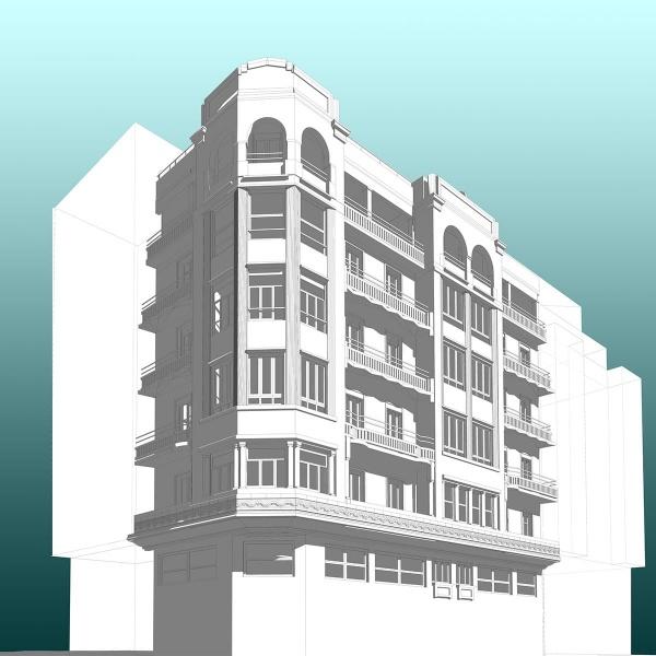 Rehabilitación de fachada: Secundino Esnaola 20 - Donostia - PROYECTOS DESTACADOS - Levantamiento por Escáner 3D